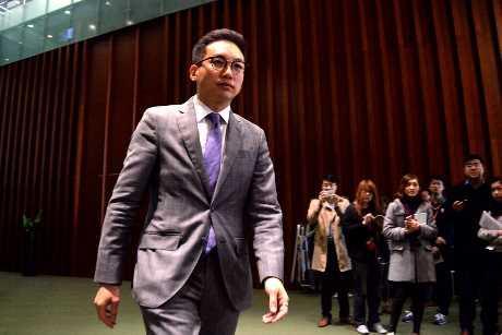 楊岳橋成為立法會議員。 盧江球攝