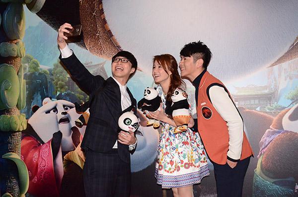 吳業坤、黃翠如及許廷鏗出席首映禮。