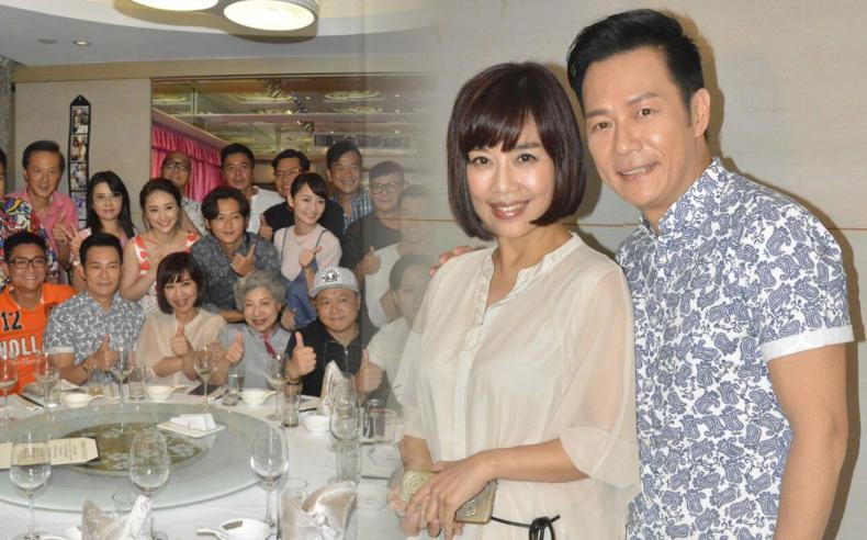 張兆輝和陳松伶夾錢請《全職沒女》劇組人員食飯。