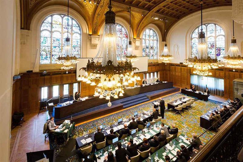 海牙國際法庭就菲律賓提出的南海仲裁案作出裁決。AP
