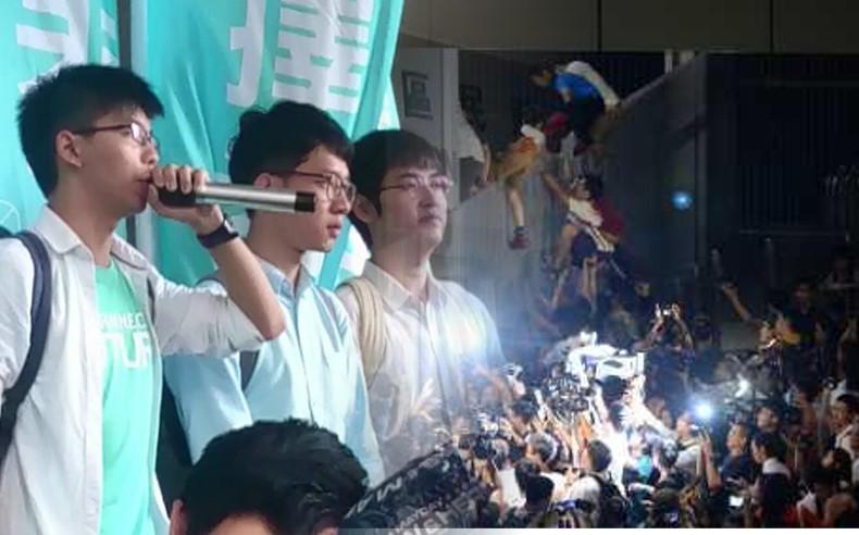3人涉2014年9月26日「重奪公民廣場」。伍凱瑩/資料圖