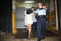 男子企圖潛工廈偷竊被捕。 丁志雄攝
