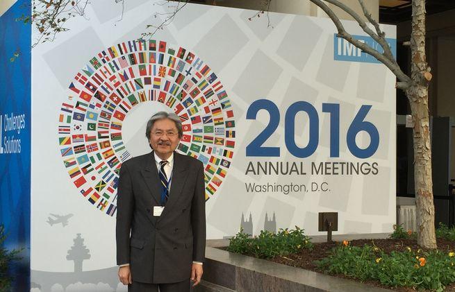 曾俊華參與IMF 和World Bank華盛頓年會。曾俊華網誌