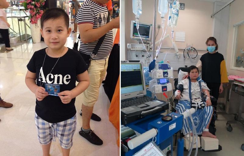 10歲男童鄧啟謙患上擴張性心肌肥大致心臟衰竭。