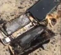 iPhone 7 的機身和外殼都被燒熔。網圖
