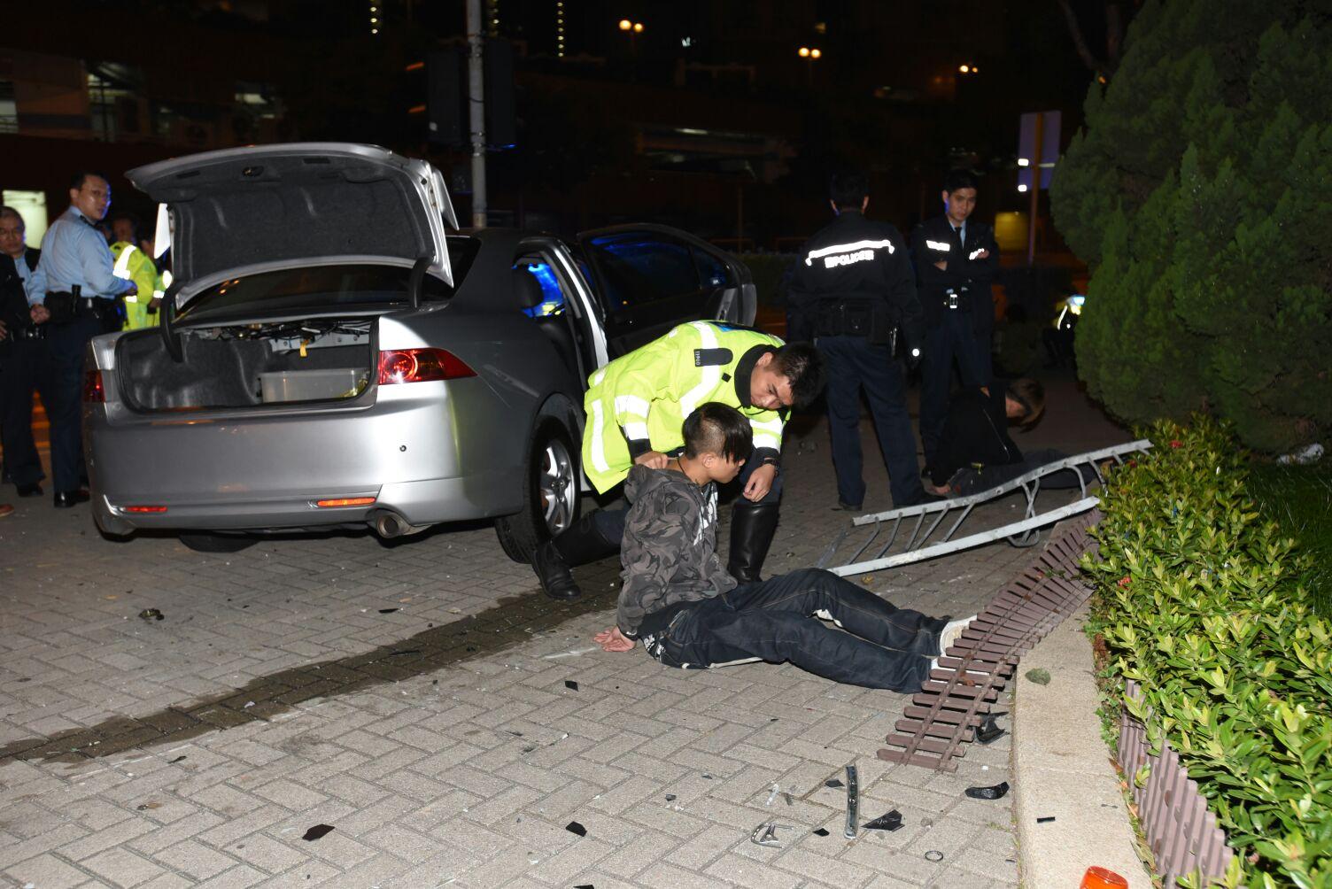 涉案司機被捕。 丁志雄攝