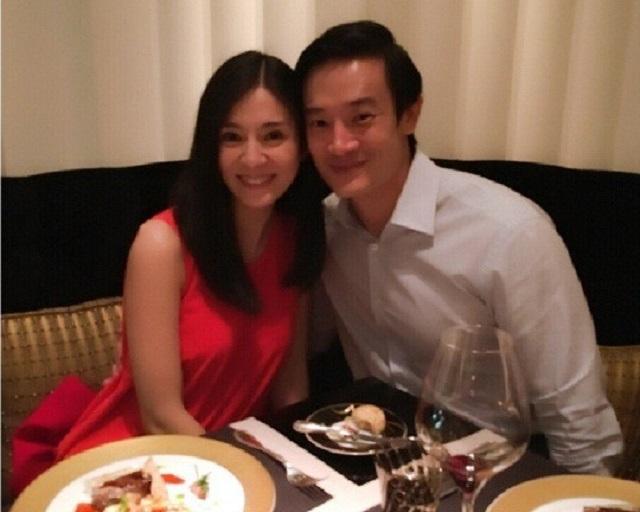 楊采妮與邱韶智2013年結婚。資料圖片