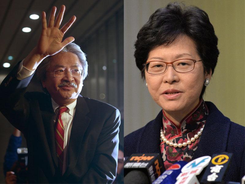 有傳中央對於曾俊華與林鄭月娥參選特首有疑慮。