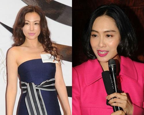 劉心悠、朱茵出席天馬電影周年晚宴。