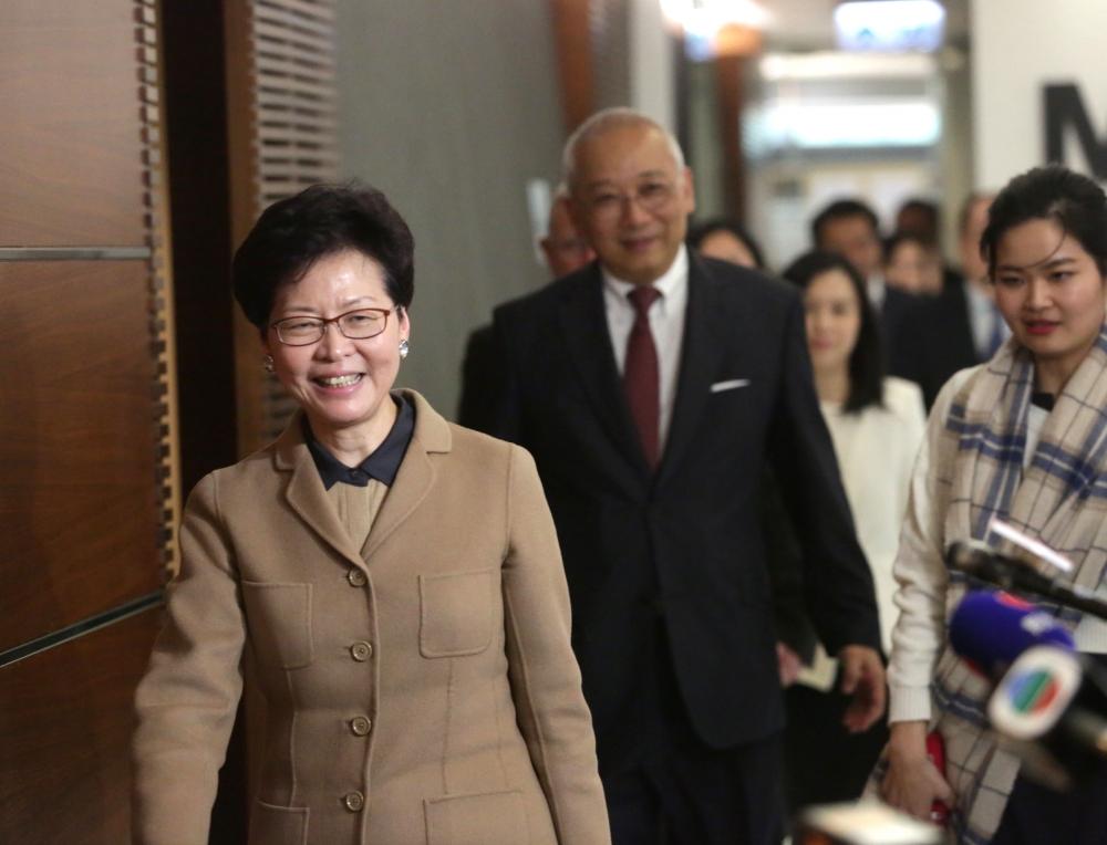 政務司司長林鄭月娥,將按原定計畫今日辭職。