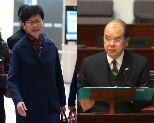 林鄭月娥辭職,由張建宗署任政務司司長一職。