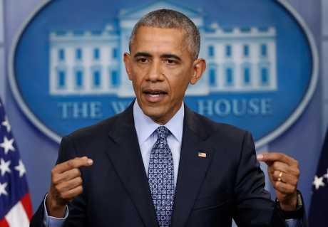 奥巴马在离任后首次发表声明。