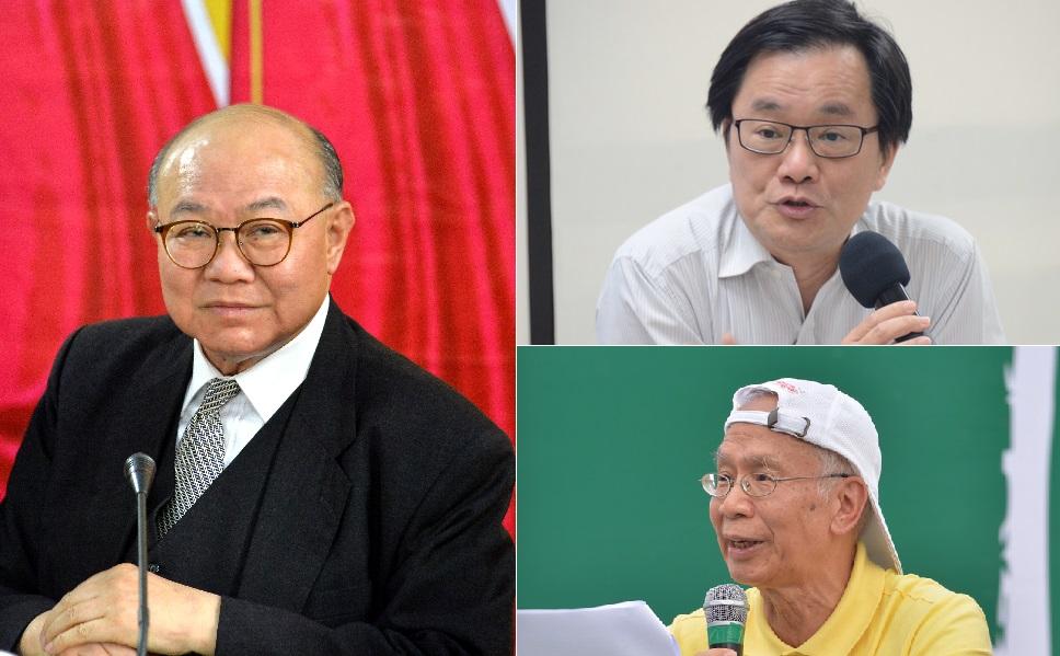 胡國興(左)、張楚勇(右上)、關信基(右下)。