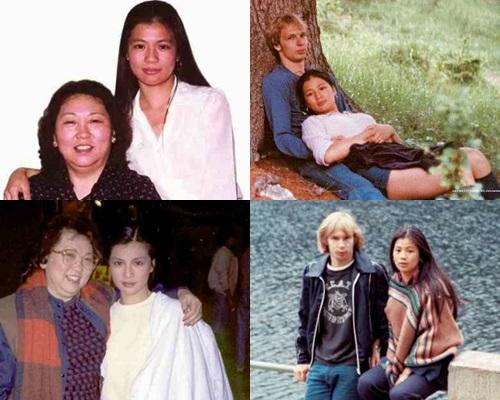 翁美玲與媽媽、初戀男友舊照。