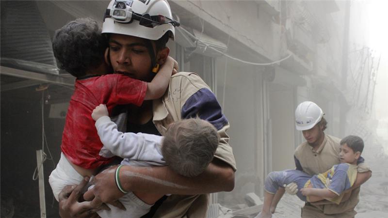 敍利亞義務救援組織「白頭盔」。