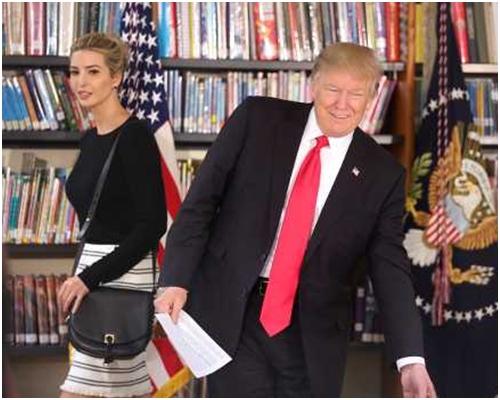特朗普和女兒伊萬卡。AP