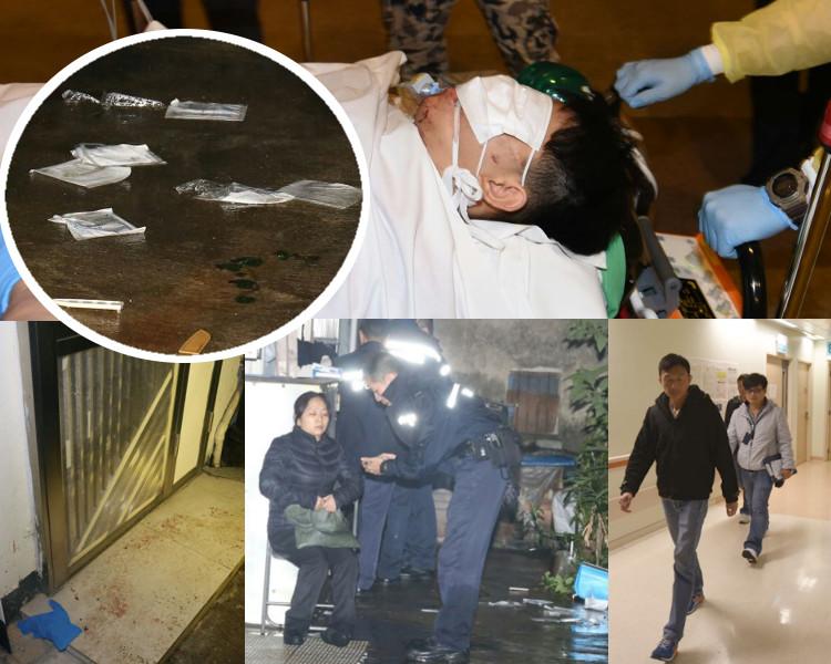 二人送往威院治理,其中一人入深切治療部,探員下午再到場了解涉嫌施襲者情況。