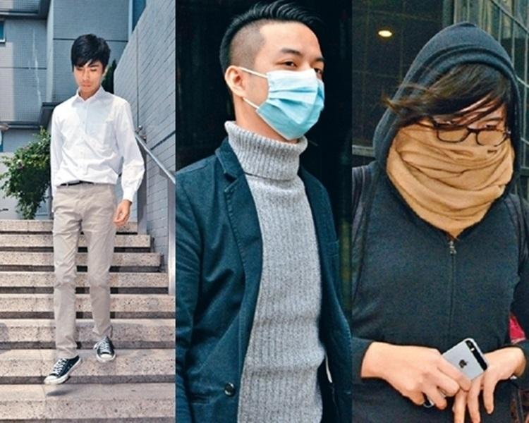 三名被告麥子晞(左)、薛達榮(中)、許嘉琪。資料圖片