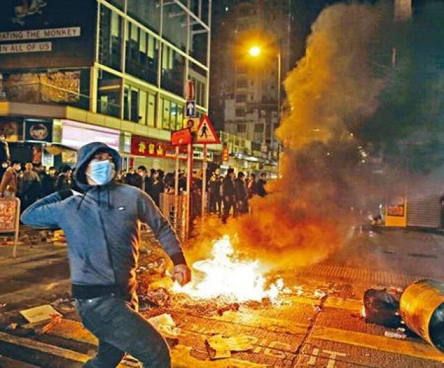 法官裁定當晚騷亂為暴動。資料圖片