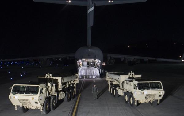薩德系統器材已抵達韓國。