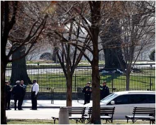 白宮一日內接連發生兩宗保安事件。AP