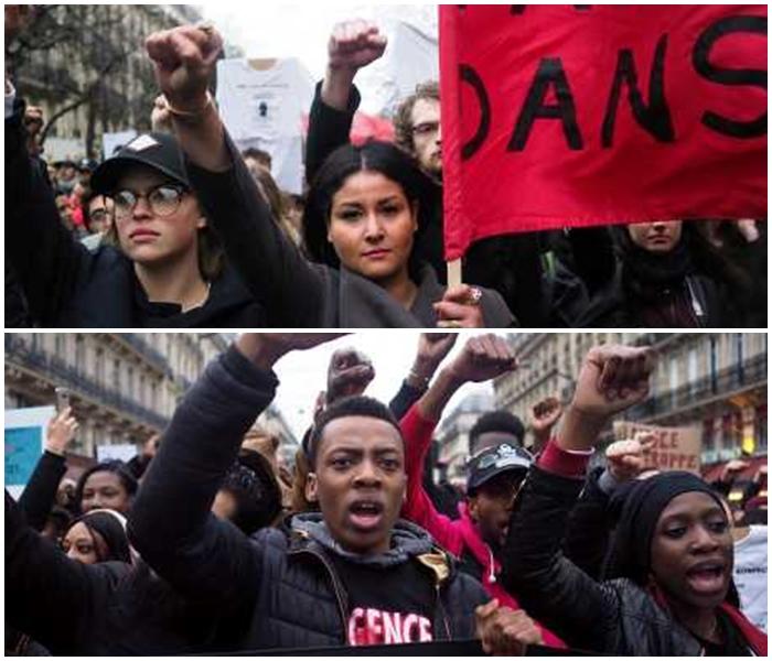 威遊行在市中心的共和廣場舉行,警方指有7000至7500人參加。AP圖片