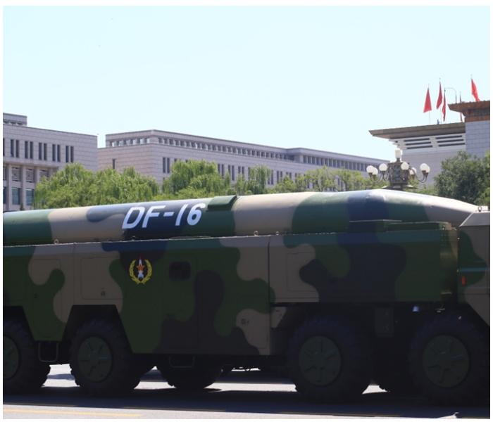「東風16型」導彈精準度提高,且許多飛彈是多彈頭發展。網上圖片