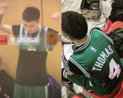 綠色波衫4號仔秦奮。(網上圖片)