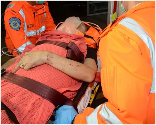 受傷司機由消防員救出後送院治理。