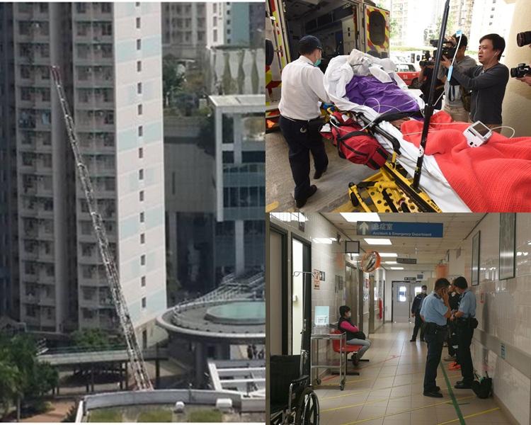 初步顯示獨居受傷男子60歲,送院治理。香港突發事故報料區/本報記者攝