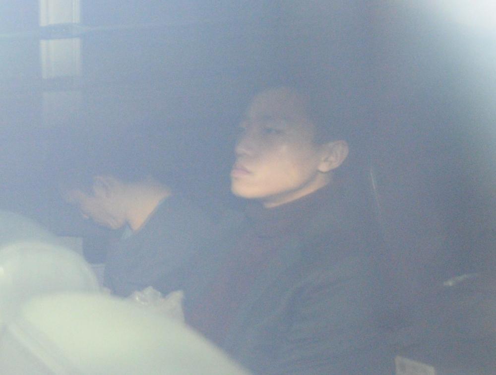 楊逸朗今晨進入法庭。