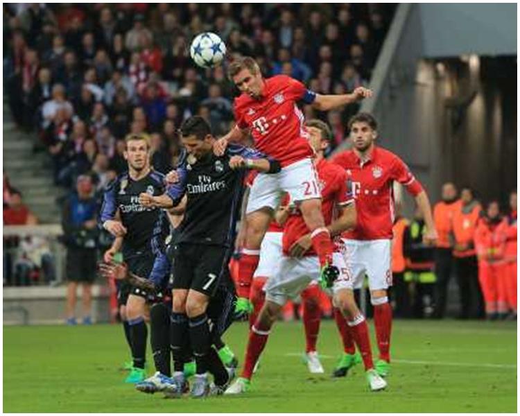 皇家馬德里勝出歐聯冠軍盃八強首回合賽事。新華社圖片