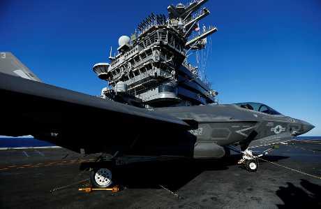 美國航空母艦尼米茲號。路透社