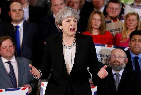 英國首相文翠珊。AP