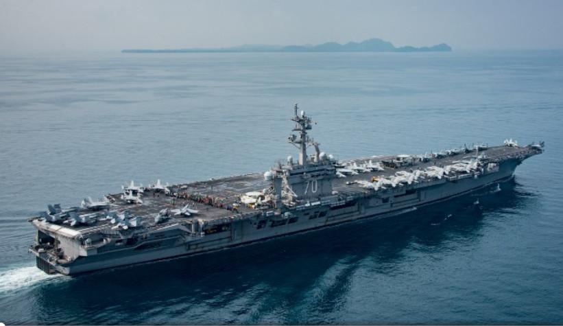 白宮指「卡爾文森號」正駛向朝鮮半島。網圖