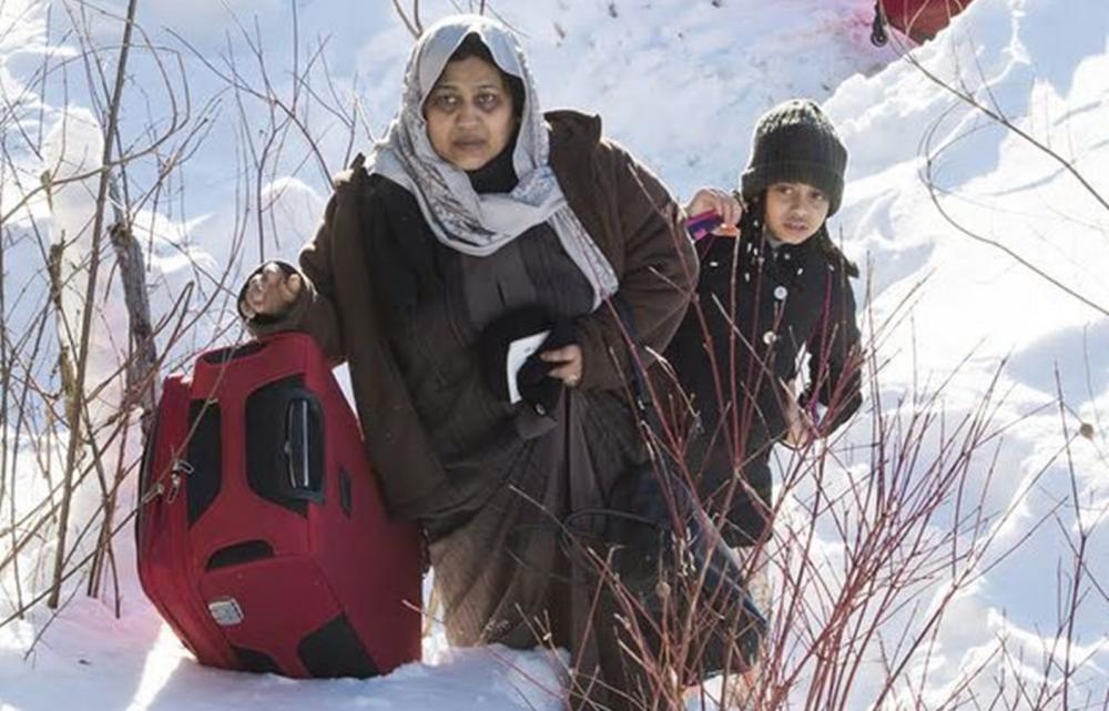 當局發現,最近數月有愈來愈尋求庇護的人從美國偷渡進入加拿大。AP