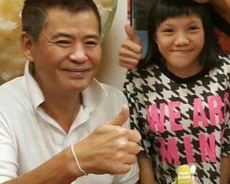 「車神盲亨」詹昌盛(左)女兒詹詠嵐去年12月15日被發現浮屍青衣。