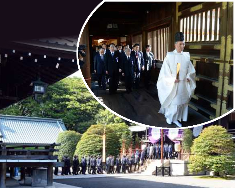 多名當地議員過往亦到靖國神社參拜。