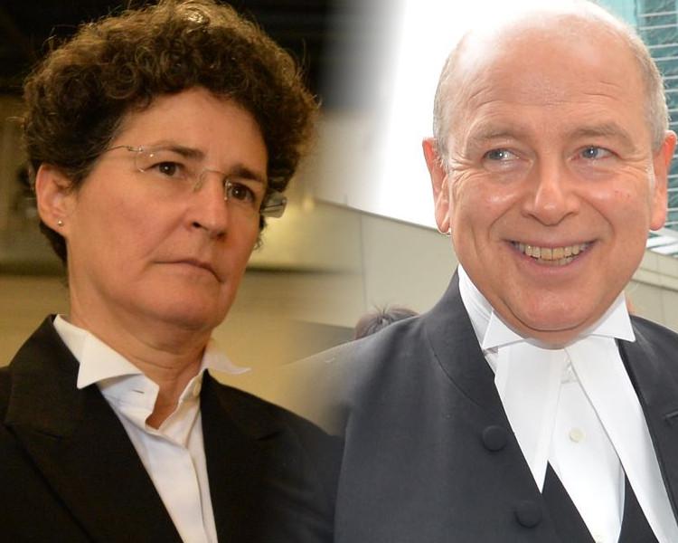 Perry(右)反駁Clare Montgomery說法,指陪審團能夠整體來審視證據。資料圖片
