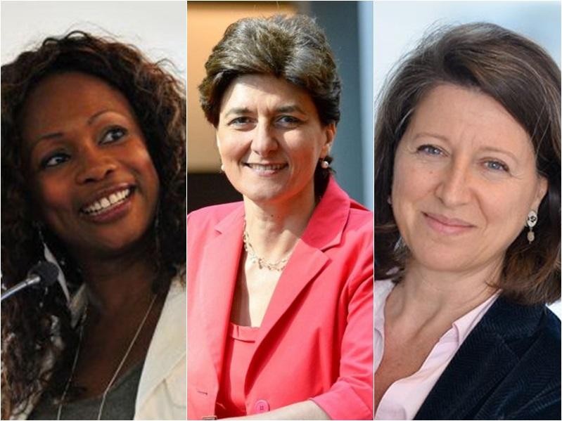 馬克龍3位女性內閣成員弗萊塞爾(左起)、古拉爾及布贊。網圖