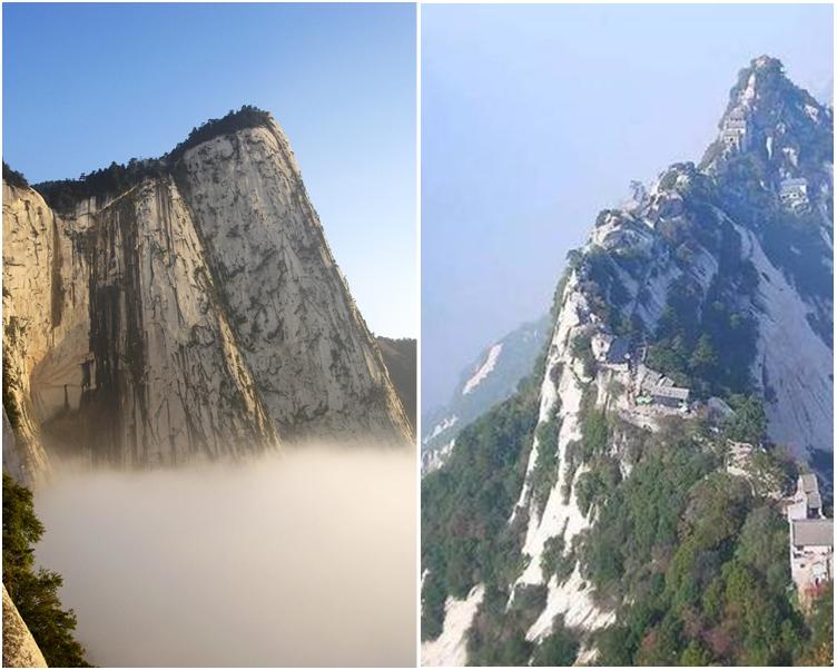 險峻的華山。網圖