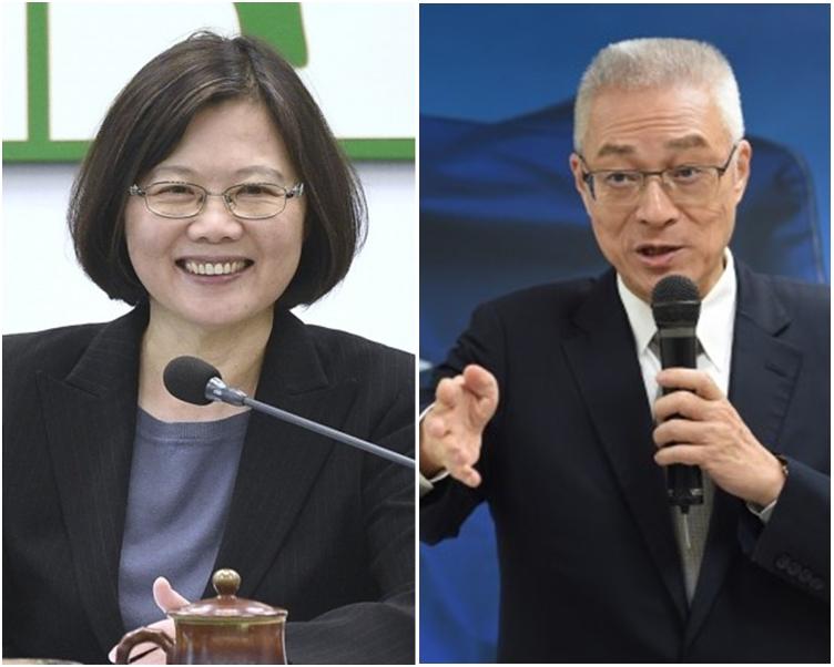 吳敦義(右)指蔡英文(左)奪權、掌權很有能力,但施政治理毫無章法。 自由時報