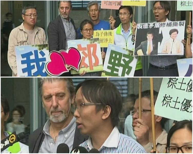 環保觸覺義務總幹事譚凱邦(圖下)認為,政府不應將環保與基層住屋需要對立。