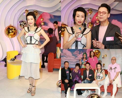 陳志雲與葉童、王喜等錄影節目。