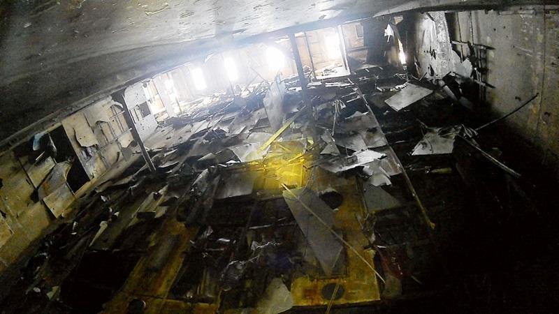 南韓客輪「世越號」今年3月被打撈上岸後,當局在船內發現不少懷疑是人骨的骨頭。