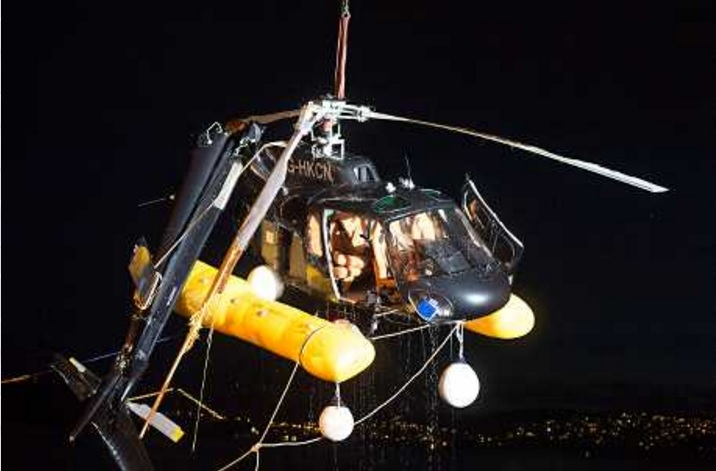 涉事的直升機。