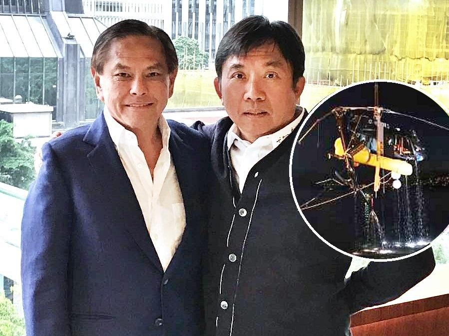 陳國強向何柱國親述直升機墮海經過。