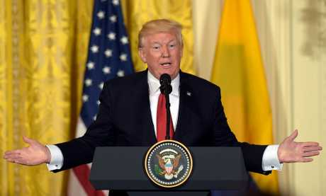 特朗普展開就任後首次國外訪問。AP