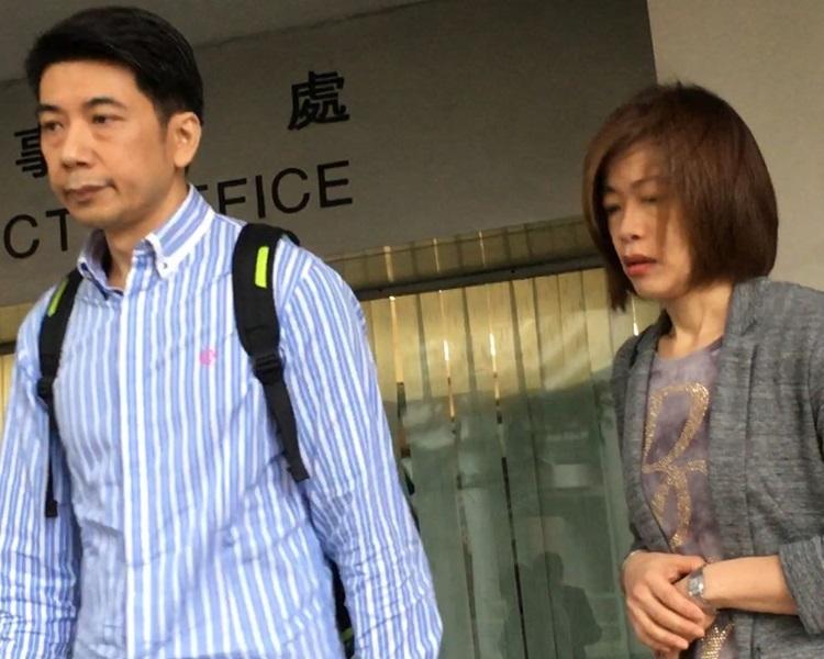 被告夫婦黃文漢(左)、曾淑蘭(右)。資料圖片