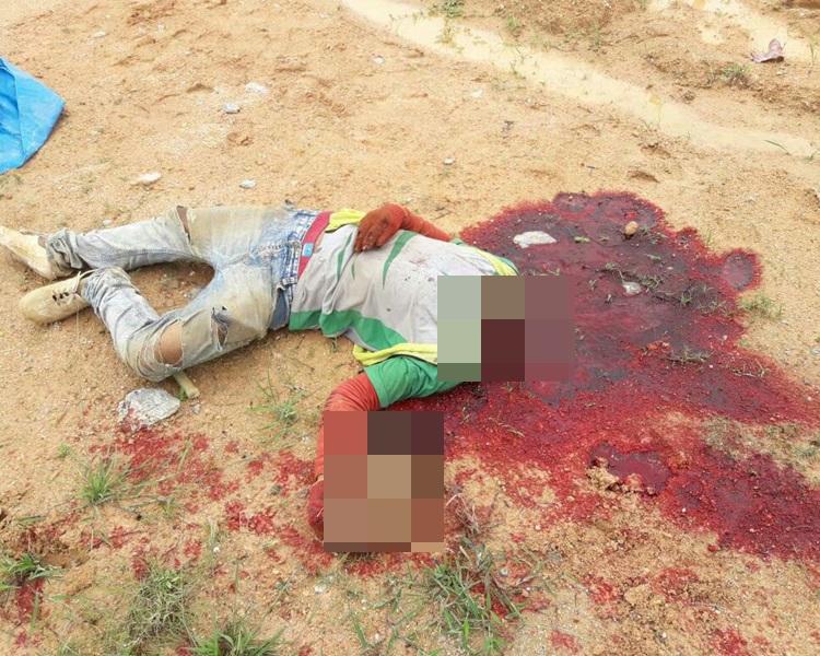 馬來西亞一名工人電線纏頸,起重機未察覺逐開動即斷頭亡。網上圖片